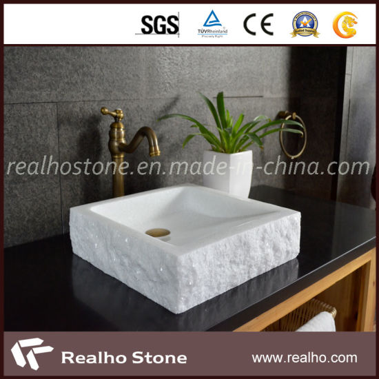 Natural White Stone Bathroom Sink for Kitchen