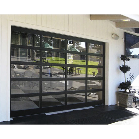 Modern Clear Glass Automatic Garage Door