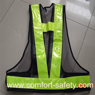 Safety Reflective Material LED Clothing Vest
