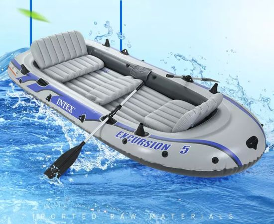 China Intex 68324 Excursion 4 Boat Set Rowing Boats Large Inflatable Kayak Pvc Inflatable Boat China Kayak And Canoe And Kayak Price
