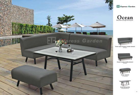 Design Aluminum Outdoor Secitional Sofa, Foam Outdoor Furniture