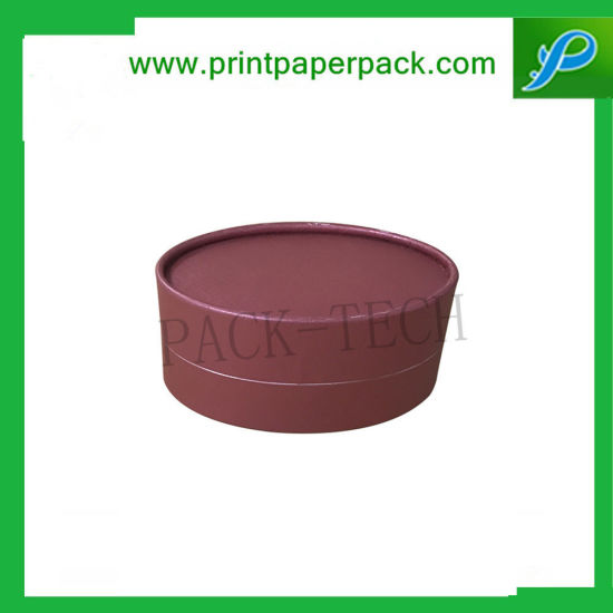 Custom Luxury Tube Packaging Boxes for Tea / Coffee / Red Wine / Flower / Candy / Chocolate, Round Hat Rigid Paper Box, Cardboard Jewelry Gift Packing Box pictures & photos