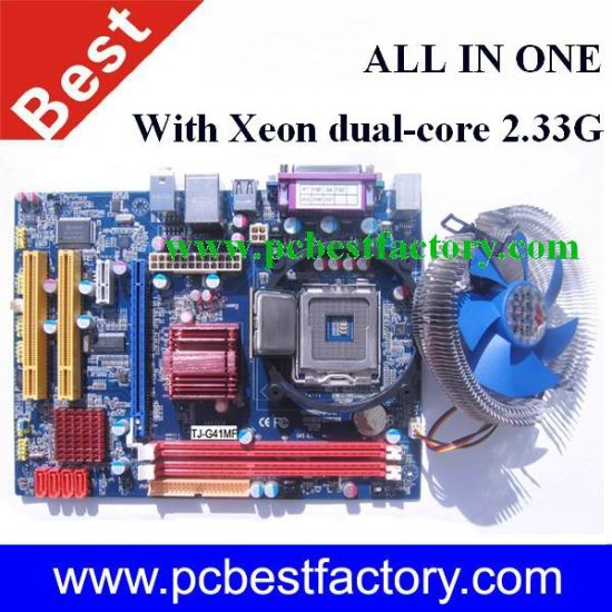 China All in One G41 Motherboard Comb DDR3 Socket LGA775
