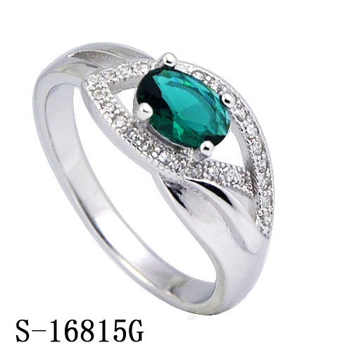 Wholesale Fashion Emerald Ring with 925 Sterling Silver