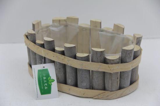 Pollution Free Eco Friendly Wholesale Wooden Craft Garden Basket Flower Pot