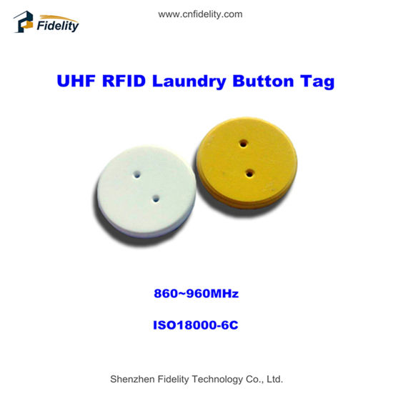 860~960MHz UHF RFID Button Tag for Laundry Management pictures & photos