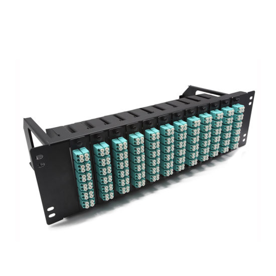 Necero Optica Fibra Cable Factory AMP 4u 6u 8u 16u 256 212 196 144 112 96 72 64 48 Port MPO Fiber Optic Patch Panel Distribution Box pictures & photos