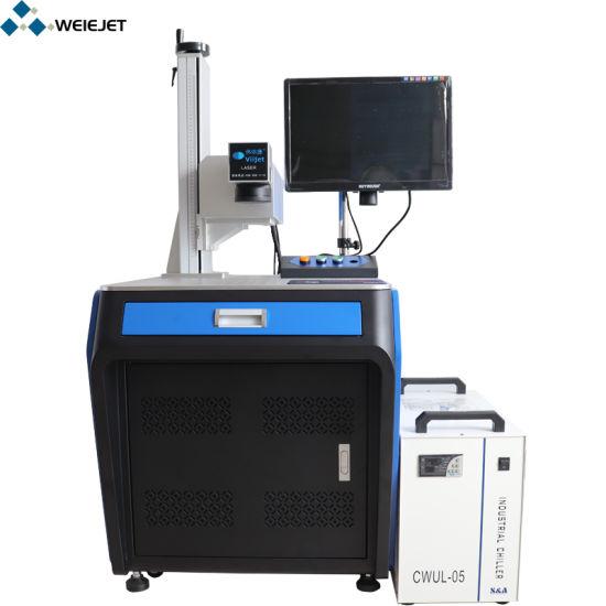 High Speed UV Laser Engraving/Marking Machine Standstill Engraving Machine/Equipment for Shower Gel Bottle