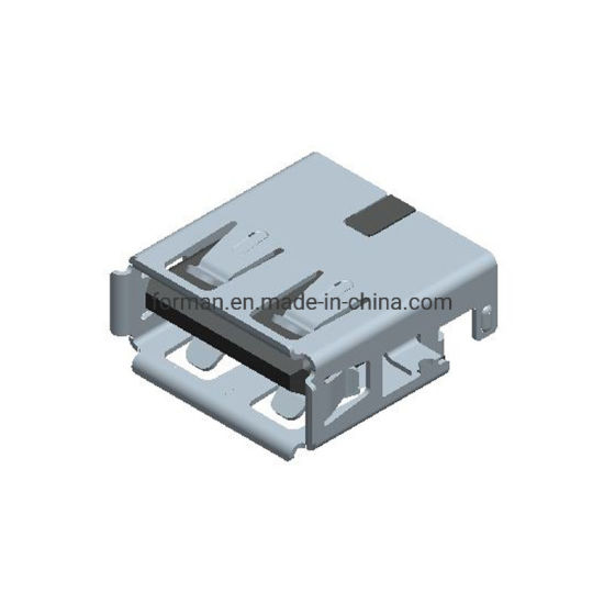 USB Charger Element Mounted in PCB Board Offset Single Port Af Connector 2.0 Female Components