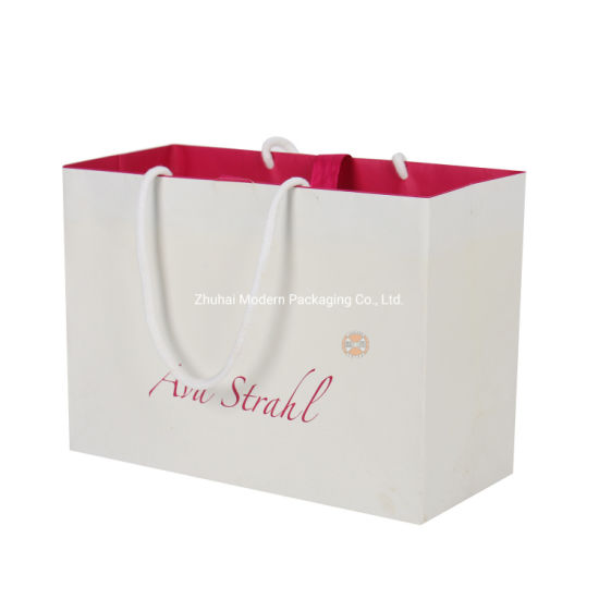 Shopping Bag Colorful Fancy Paper Gift for Packaging Clothing Garment Cosmetic