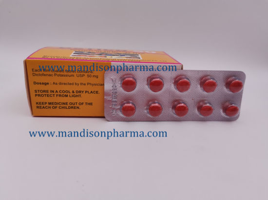 China Diclofenac Potassium Tablets 50mg Gmp Certified Medicine China Diclofenac Pota Cambia