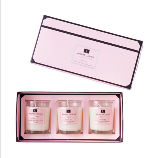Home Decoration Lovely Gift Box Natural Soy Wax Scented Candle