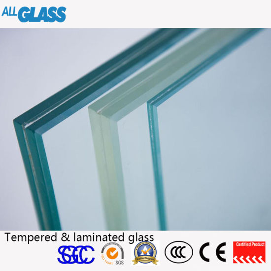 Green/Grey/White Colour Lamianted Glass with Ce Certification
