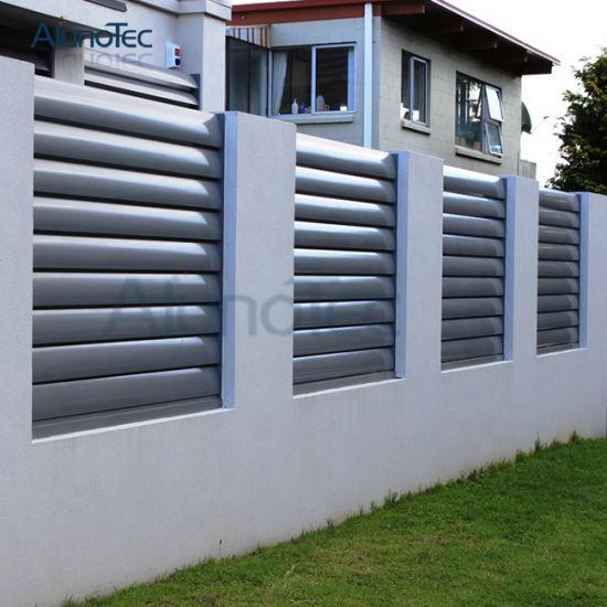 Horizontal Aluminium Slat Fence For Garden