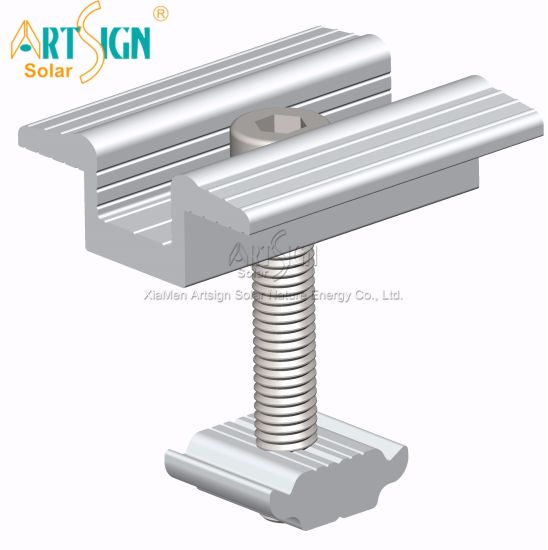 China Solar Aluminum Clamps For Solar Panel Mounting