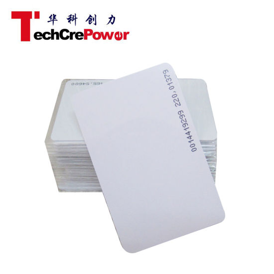 Printed Classic Blank PVC Cards Card with Tk4100 Em4100 Chips pictures & photos