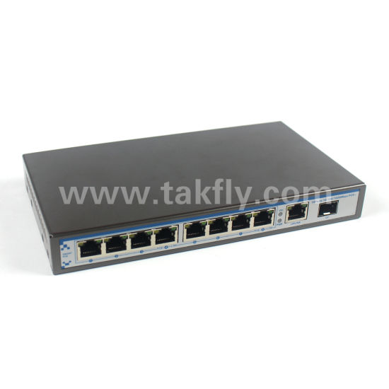 10/100/100Mbps Fast Ethernet 8 Port Gigabit Poe Switch with 1RJ45+1SFP pictures & photos