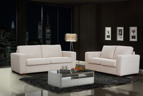 Modern Fabric Living Room Furniture White Sofa Sets
