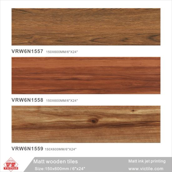 China Building Material Wood Ceramic Floor Tile For Decoration