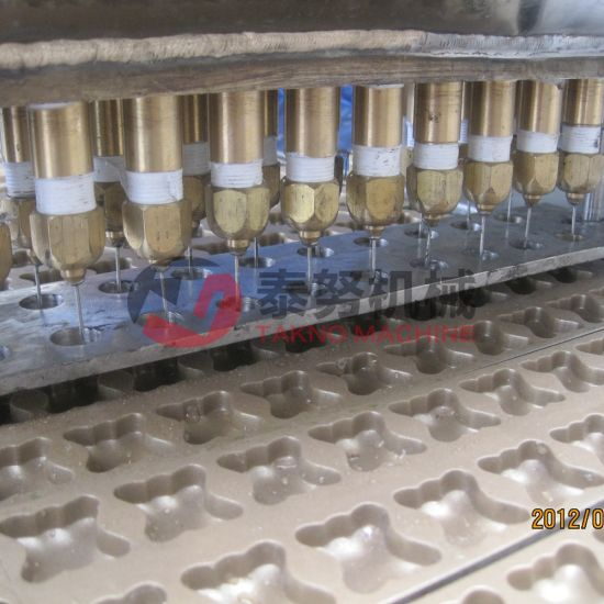 Newly Design Stainless Steel Gas Center Filling Biscuit Production Line pictures & photos