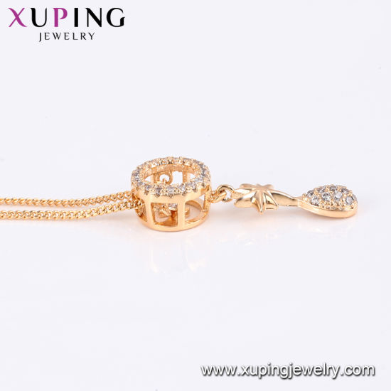44190 Fashion Xuping 18K Gold -Plated Men′s Neckalce in Environmental Copper pictures & photos
