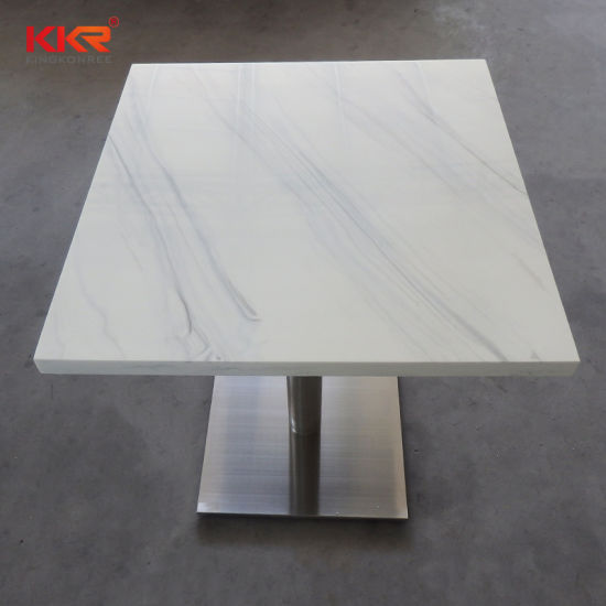 Fast Food Table And Chairs High End Restaurant Furniture Solid Surface Tables