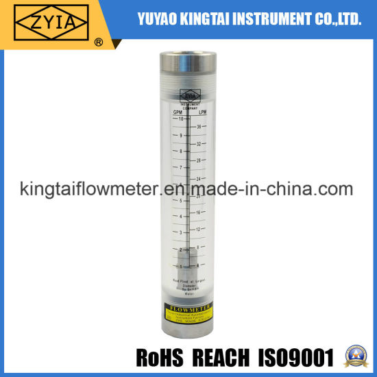 Ss Fitting Water Pipeline Glass Tube Liquid Acrylic Water Flowmeter