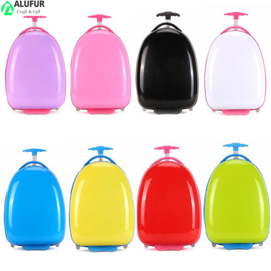 16 Inch Oval Shaped ABS PC Hard-Side Wheeled Luggage Case for Kids