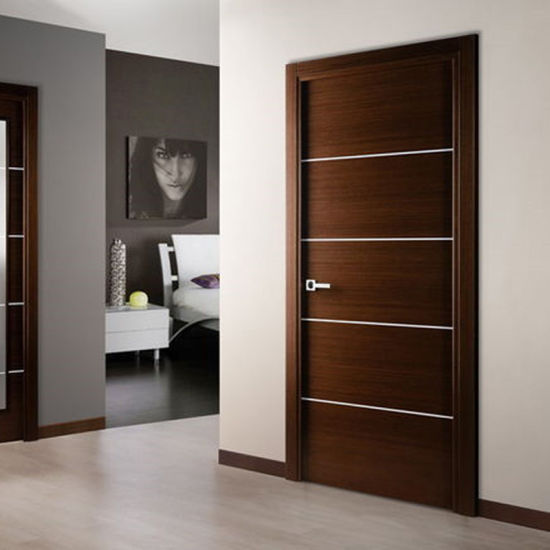 China Interior Bedroom Entry Modern Teak Wood Main Door Latest