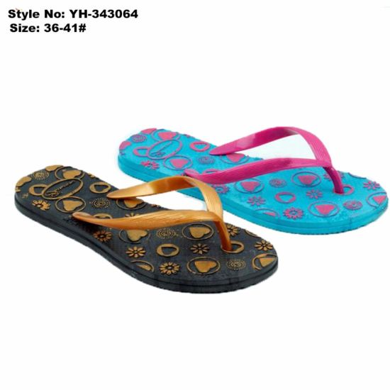 02986292d6cba8 Latest Style Custom Printable EVA Sandals New Style Material Beach Sandals  Flip Flops for Ladies. Get Latest Price