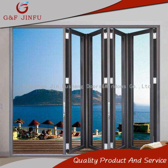 China Latest Design Balcony Aluminum Glass Folding Door - China ...