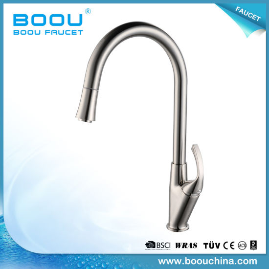 China Boou New Design Deck Mounted Long Neck Kitchen Faucet With