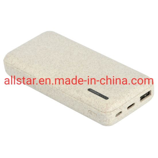 Hot Selling Newly Design Wheat Straw Power Bank for Mobile Phones 10000mAh 2020