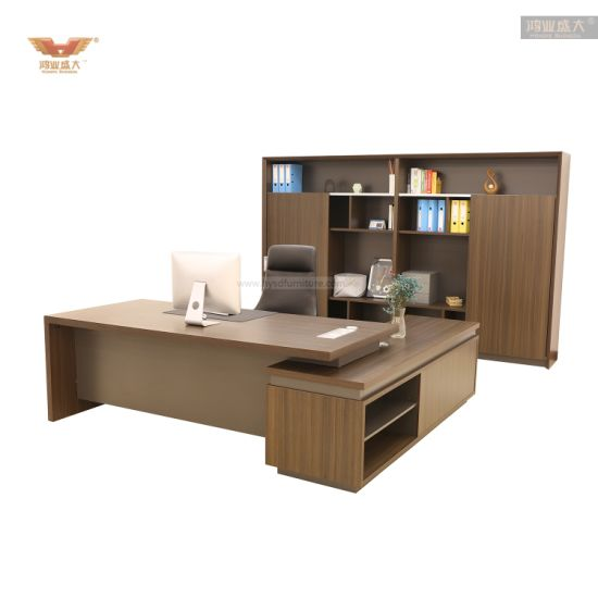 New Melamine Office Furniture L Shape Executive Table Office Desk
