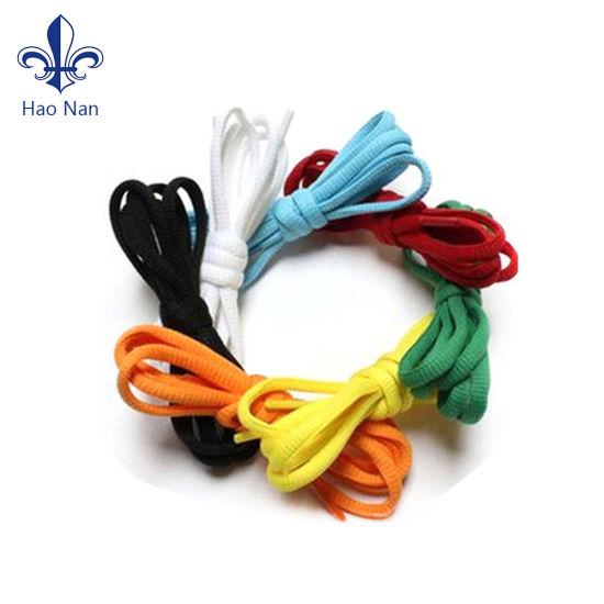 Novelty Custom Colorful Fashion Polyester Shoelace for Wholesale