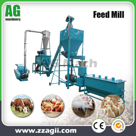 China Homemade Small Chicken Feed Pellet Machine Production Line