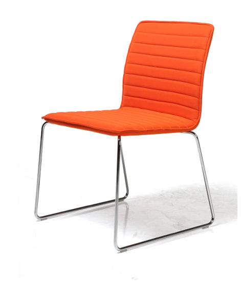 Modern Design Metal Fabric Reception Chair for Office Bank or Hotel