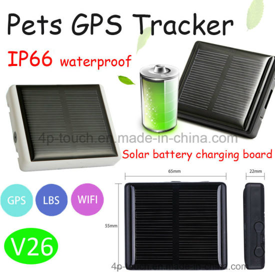 Long Standby Solar Powered Pet GPS Tracker with Waterproof V26 pictures & photos