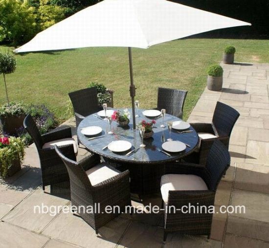 7PCS Wholesale Outdoor Patio Rattan Dining Tables and Chairs Set Garden Furniture