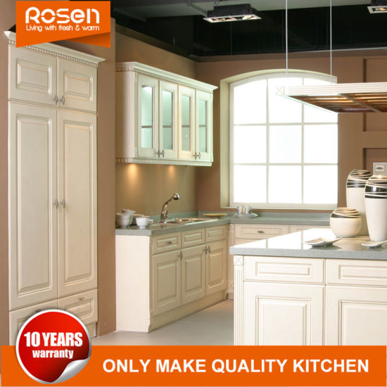 Modern Style Solid Wood White Cupboards Kitchen Cabinets Online