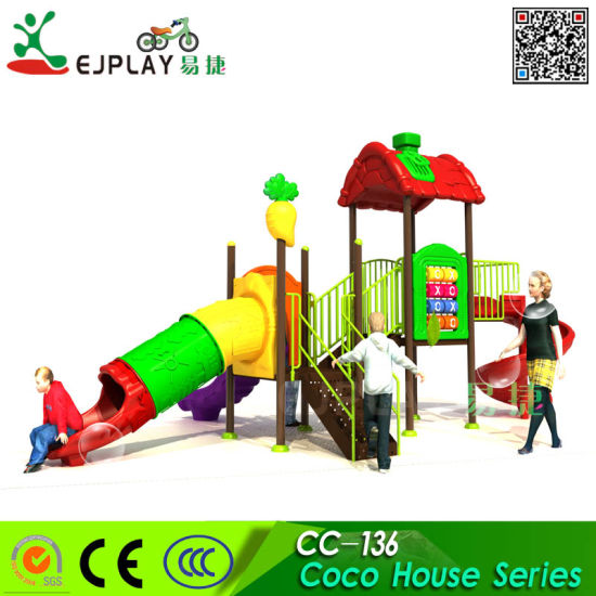 Customized Commercial Outdoor Playground Equipment for 3-12 Years Old Kids