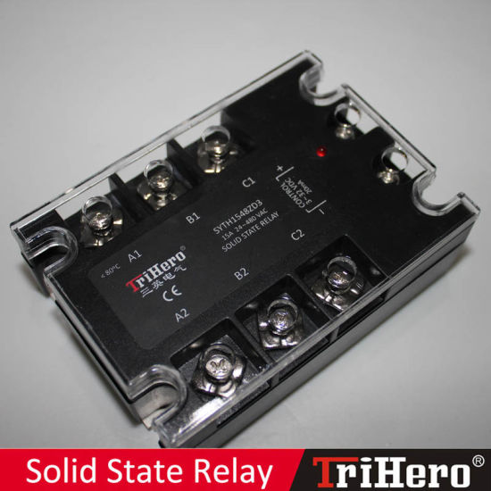 15A DC/AC 3 Phase Solid State Relay SSR