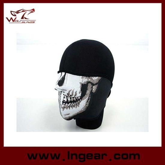 China Bandana Skull Half Face Mask Protector Paintball Biker China Half Face Mask Skull Mask