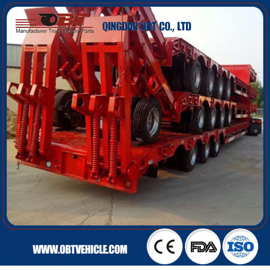 Price 50 Tons 60 Tons Low Bed Semi Trailers for Sale pictures & photos