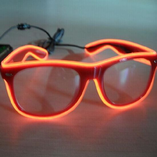 Light up EL Wire Glasses for Parties Power by 2AA Batteries Pack pictures & photos
