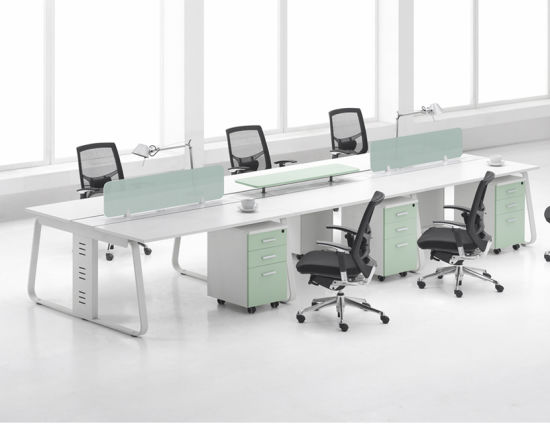 Fashion 6 Seat Office Bench Modern Office Workstations Desk