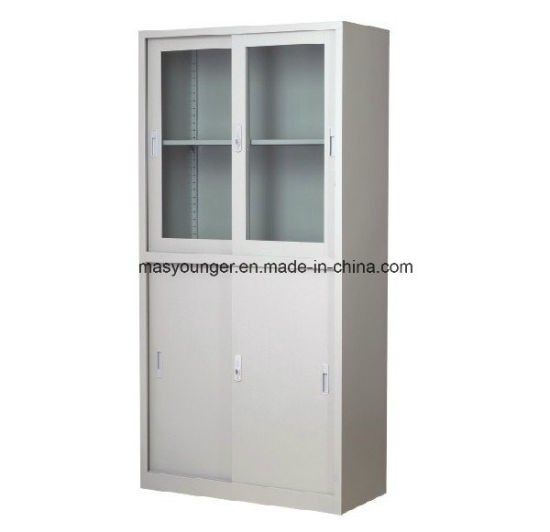 China Glass Sliding Door Metal Filing Cabinet For Office School