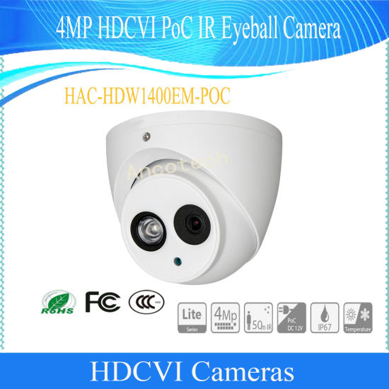 HAC-HDW1400EM Dahua Technology C/ámara HD CVI 4 MP Dome 2,8 mm IR 50 m Dahua
