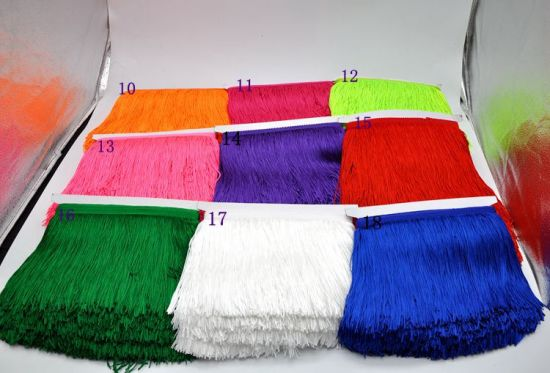 Wholesale 15cm Polyester Thickness Tassel Fringe Lace for Dancing Dress