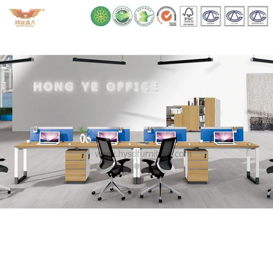 Modern Office Workstation Partition Cubicles with Side Cabinet (H90-0215) pictures & photos